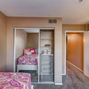 Model unit bedroom